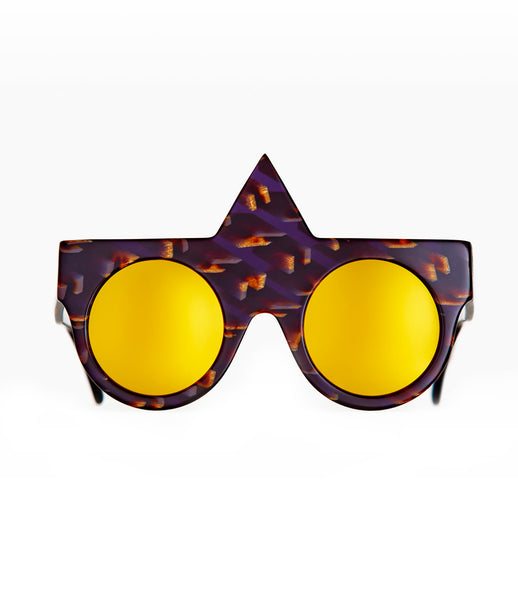 Fakoshima_sunglasses_accessory_under_300_Italian_acetate_brown_purple_geometric_shape_round_lenses_futuristic_fashion_kidsofdada