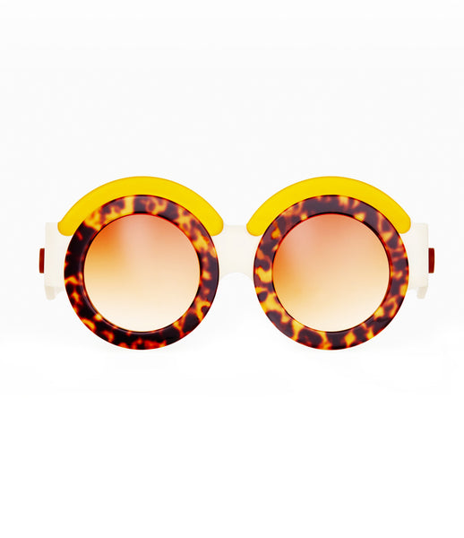 Fakoshima_sunglasses_accessory_under_300_Italian_acetate_brown_yellow_round_lenses_futuristic_fashion_kidsofdada