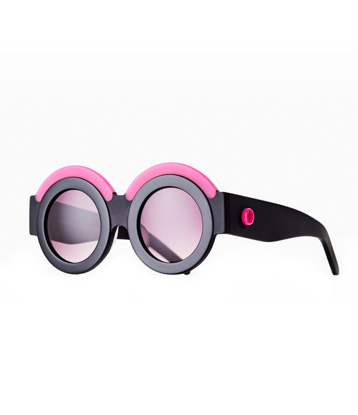Fakoshima_sunglasses_accessory_under_300_Italian_acetate_pink_black_white_round_lenses_futuristic_fashion_kidsofdada