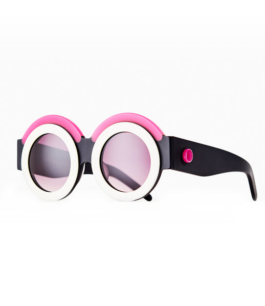Fakoshima_sunglasses_accessory_under_300_Italian_acetate_pink_white_round_lenses_futuristic_fashion_kidsofdada