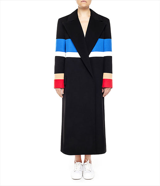 Marianna_Senchina_coat_clothing_handmade_black_blue_red_oversized_colour_blocking_stripes_double_breasted_fashion_kidsofdada