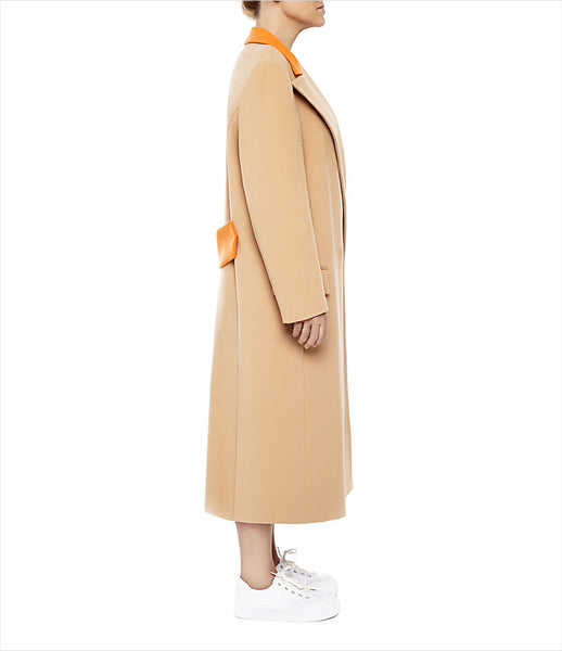 Marianna_Senchina_coat_clothing_handmade_bespoke_beige_orange_oversized_luxury_masculine_silhouette_double_breasted_fashion_kidsofdada
