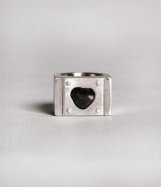 Parts_of_Four_ring_jewelry_handmade_made_to_order_matte_sterling_plate_rough_diamond_chunky_kidsofdada