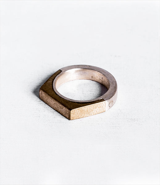 Parts_of_Four_ring_jewelry_handmade_made_to_order_matte_sterling_brass_geometric_faceted_chunky_kidsofdada