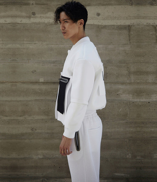 Path_neoprene_bomber_jacket_405_oversized_white_pinstripe_pockets_slits_mens_fashion_kidsofdada