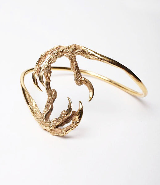 Reo_jewels_jewelry_jewellery_armlet_claws_crow_gold_plated_sterling_silver_bangle_kidsofdada
