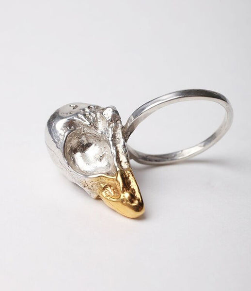 Reo_jewels_jewelry_jewellery_skull_ring_sterling_silver_statement_striking_gold_plated_beak_kidsofdada