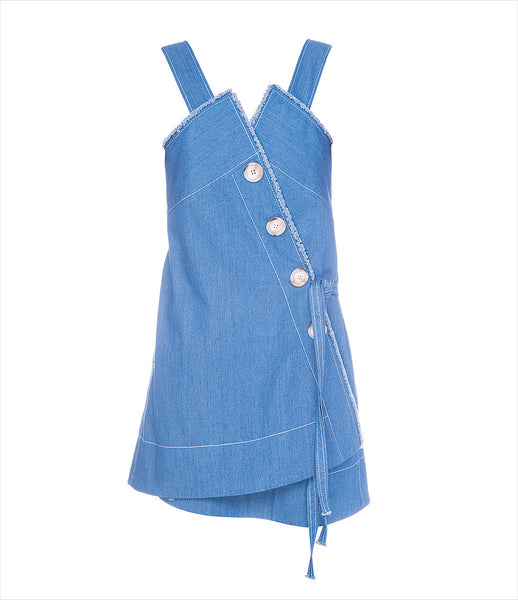 FLOW_the_label_denim_dress_asymmetric_buttons_raw_edge_frayed_jean_fashion_womenswear_blue_contemporary_grunge_215_kidsofdada