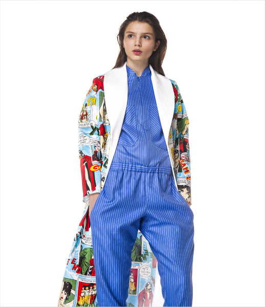 LAKSMI_coat_cartoon_graphic_print_comic_superhero_midi-length_pop-art_fashion_statement_colourful_clothing_womens_fashion_kidsofdada