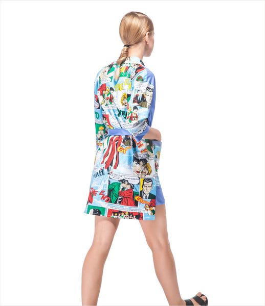 LAKSMI_cartoon_print_graphic_blue_comic_superhero_robe_pyjama_womens_unisex_mens_clothing_fashion_kidsofdada