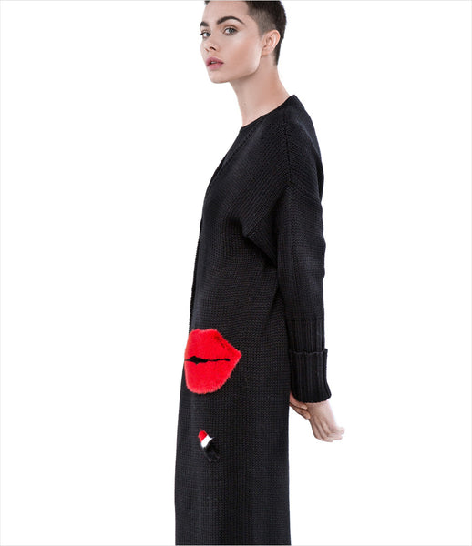 Blood&Honey_blood_honey_black_fur_pockets_chanel_lips_long_cardigan_wool_1000_kidsofdada_fashion_womenswear_womens_luxury