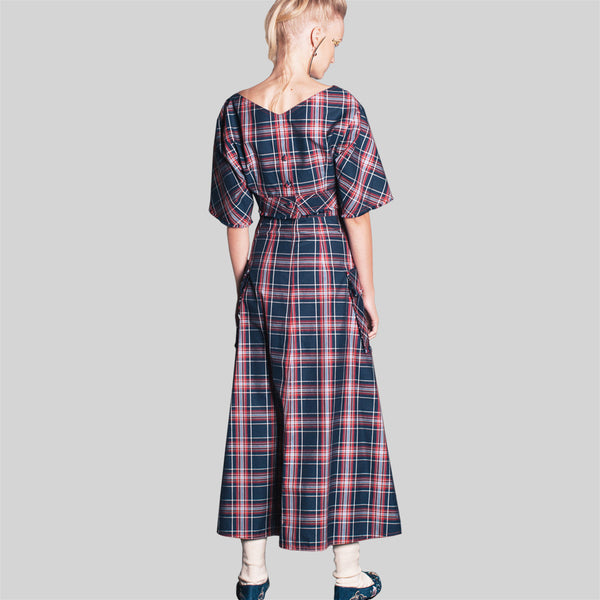 Jean-Gritsfeldt_high_waist_check_ checked_button_slit_maxi_a-line_set_womens_fashion_kidsofdada