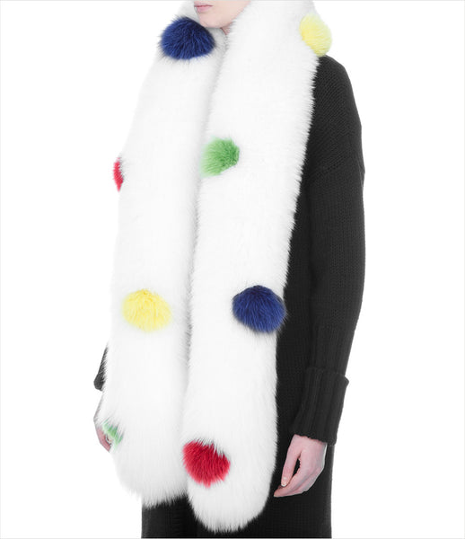 Blood_Honey_arctic_fox_fur_stole_white_print_dots_luxury_elegant_chic_scarf_830_fashion_womens_kidsofdada