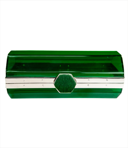 isabel_englebert_300_acryllic_clutch_green_silver_ponyhair_cow_green_emerald_fashion_women_kidsofdada
