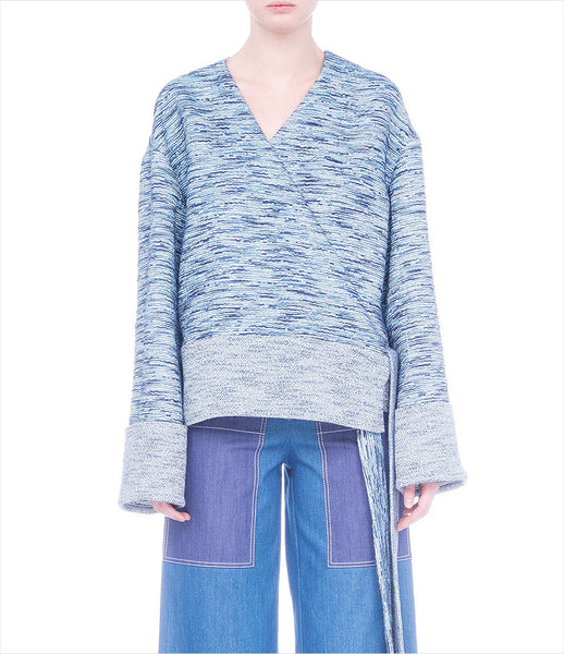 FLOW_the_label_cotton_jacket_wrap_ties_tassel_blue_335_trend_contemporary_street-style_womenswear_womens_fashion_kidsofdada