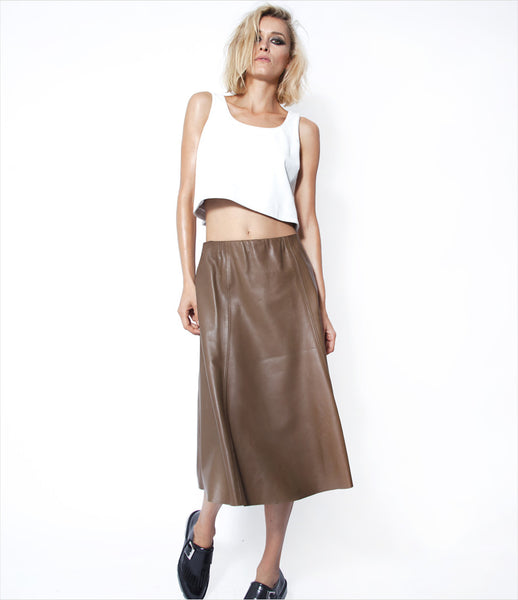 Fatale-Maison_lambskin_leather_pleated_midi_skirt_a-line_brown_tan_khaki_high-waist_rock-chic_womens_clothing_fashion_kidsofdada