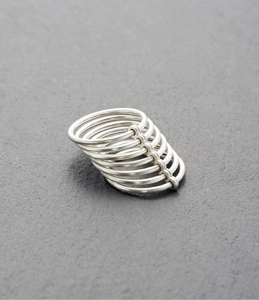 KINSFOLK_jewelry_jewellery_accessories_gold_sterling-silver_matte-finished_ring_band_stack_300_handmade_fashion_womens_kidsofdada