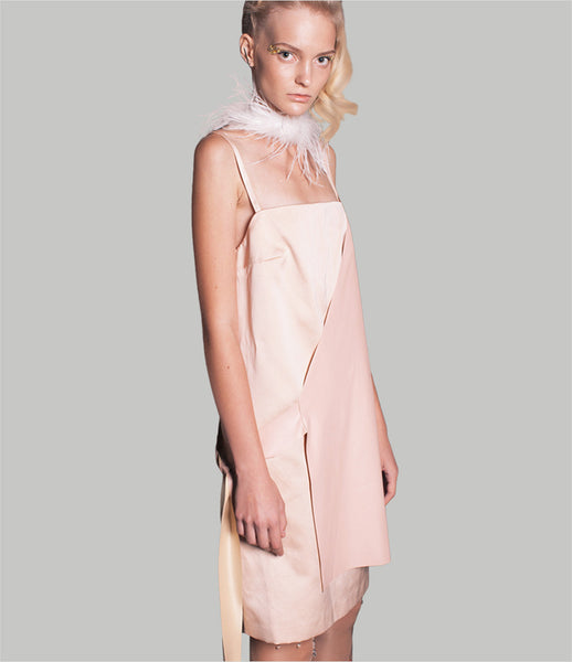 Jean-Gritsfeldt_slip_dress_pink_nude_blush_silk_leather_tassel_asymmetric_womens_fashion_kidsofdada