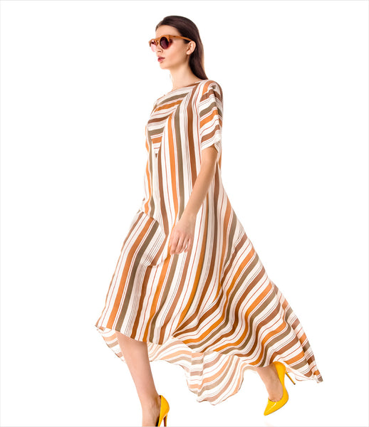 LAKSMI_brown_stripe_tunic_dress_asymmetric_maxi_caftan_shift-dress_flowy_contemporary_womens_fashion_kidsofdada