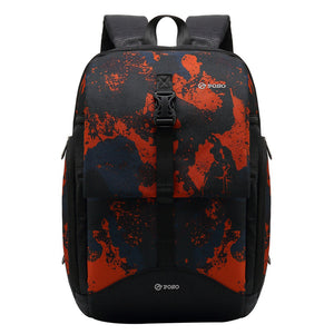 POSO Fashion Laptop Backpack Casual Camouflage Outdoor Travel Bag