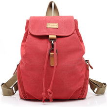 Load image into Gallery viewer, POSO Fashion Womens Canvas Backpack Multi-function Shoulder Laptop Bag