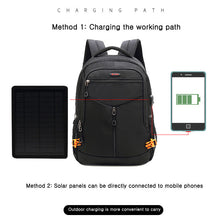Load image into Gallery viewer, 2019 POSO Solar Charging Backpack Outdoor 15.6 inch laptop Backpack With USB Port