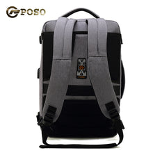 Load image into Gallery viewer, POSO Travel Multifunction Laptop Backpack Nylon Waterproof Business Password Bag 15.6 inch