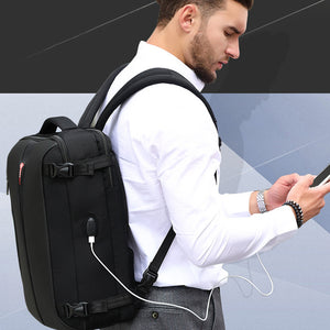POSO Travel Multifunction Laptop Backpack Nylon Waterproof Business Password Bag 15.6 inch