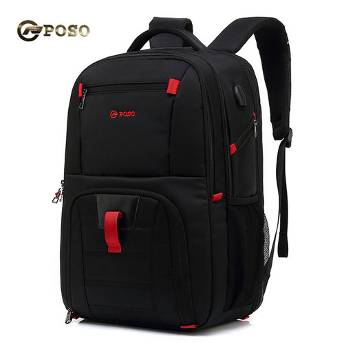 Poso 17.3 Inch Laptop Backpack Sports Travel Bag Large-capacity Backpack
