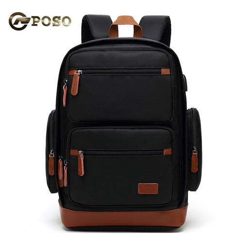 POSO Backpack Nylon Multi-function and Large-capacity Backpack Waterproof laptop Bag