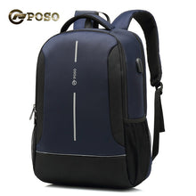 Load image into Gallery viewer, POSO Waterproof Laptop Backpack for 15.6 inch Computer School Bag
