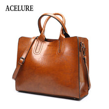 Load image into Gallery viewer, High Quality Casual Female Bags Trunk Tote Ladies Large Shoulder Bag Leather Handbags Big Women Bag