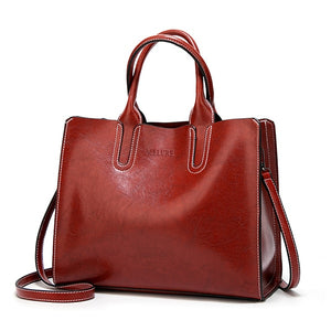 High Quality Casual Female Bags Trunk Tote Ladies Large Shoulder Bag Leather Handbags Big Women Bag