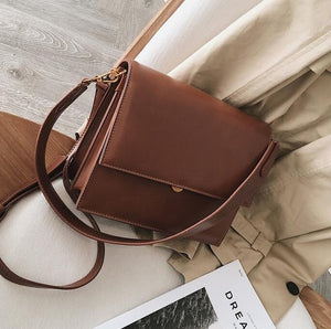 2019 Quality PU Leather Women Tote bag European Fashion Simple Women's Designer Handbag Alligator Shoulder Crossbody Bags