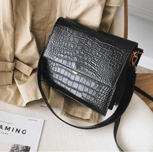 Load image into Gallery viewer, 2019 Quality PU Leather Women Tote bag European Fashion Simple Women's Designer Handbag Alligator Shoulder Crossbody Bags