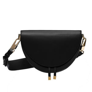 PU Leather Women Shoulder Bags Crossbody Bag Fashion Crocodile Semicircle Saddle Bags