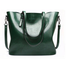 Load image into Gallery viewer, Pu Leather Women Shoulder Bag Fashion Oil Wax Leather Women Handbags Large Capacity Tote Bag Casual Women Messenger bag