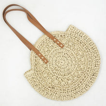 Load image into Gallery viewer, Summer Hand-woven Travel Female Tote Wicker Bags Bohemian Straw Beach Round Handbag Woman Shoulder Bag