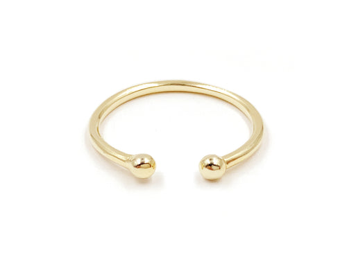 Gold Double Dot Ring