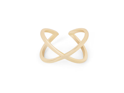 Gold Orbit Ring