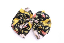 Load image into Gallery viewer, Penelope Black Floral Hair Bow