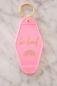 """Be Kind"" Pink Keychain"