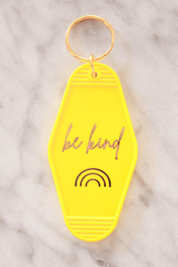 """Be Kind"" Yellow Keychain"