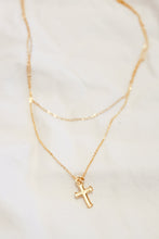 Load image into Gallery viewer, Double Chain Cross Necklace