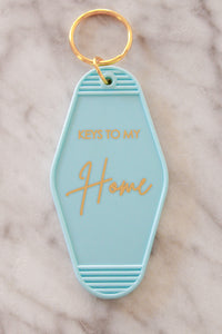 """Keys To My Home"" Blue Keychain"