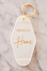 """Keys To My Home"" White Keychain"