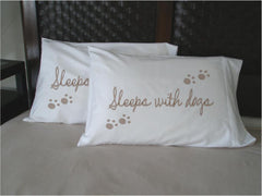 SLEEPS WITH DOGS - Pillowcase