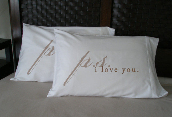 P.S. I Love You Pillowcase