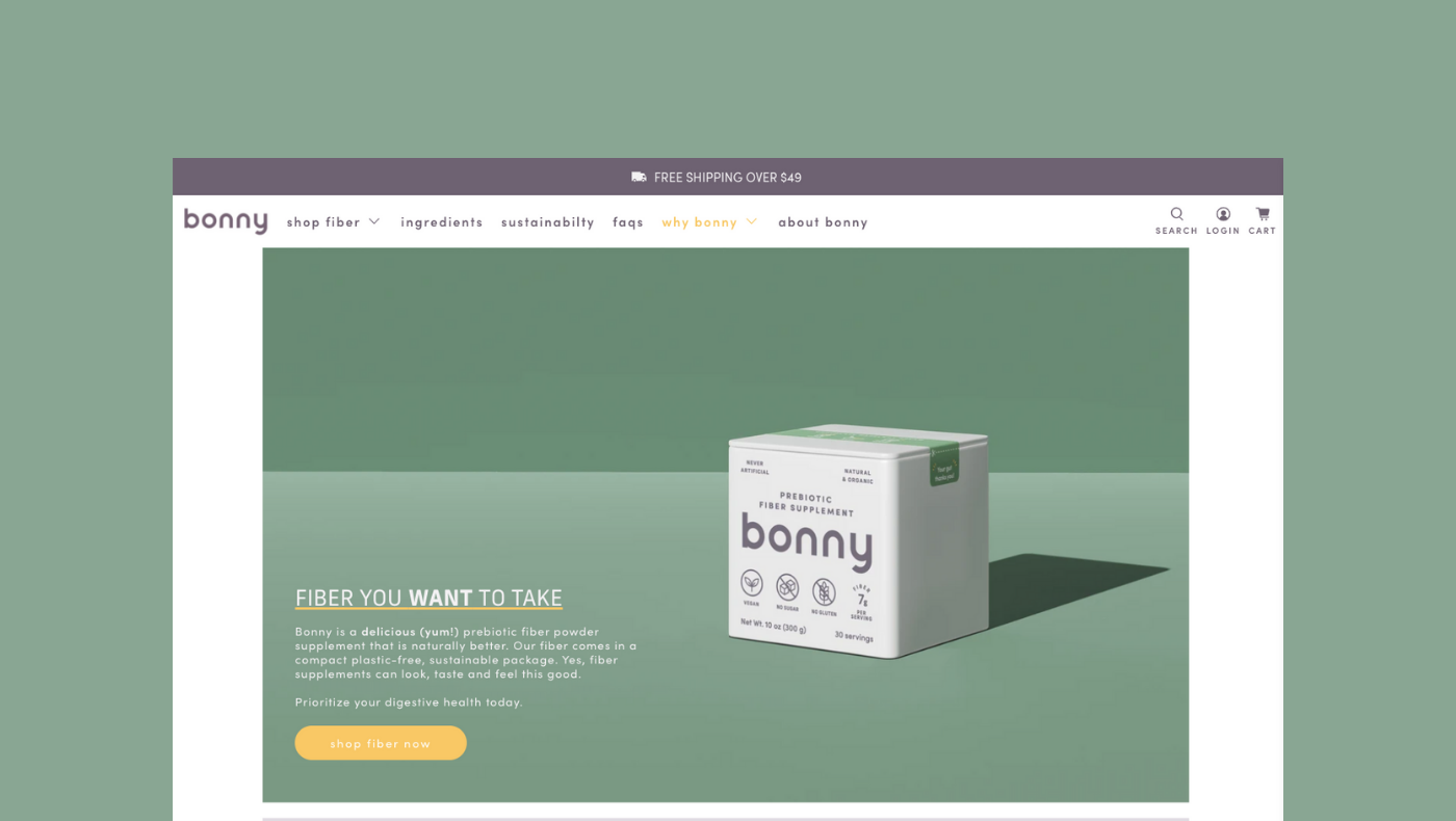 Bonny Fibre Supplements: From pandemic hobby to growing ecommerce brand