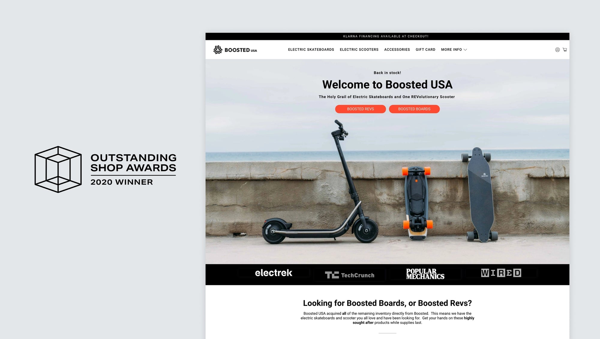 Boosted USA by Bryn Howlett: Agency winner of the Outstanding Shop Award for best Flex store